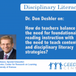 Dr. Don Deshler - Teacher Disciplinary Strategies