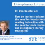 Dr. Don Deshler - Teacher Disciplinary Strategies