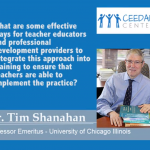 Dr. Tim Shanahan - Implementing CCSS to teachers and professional development