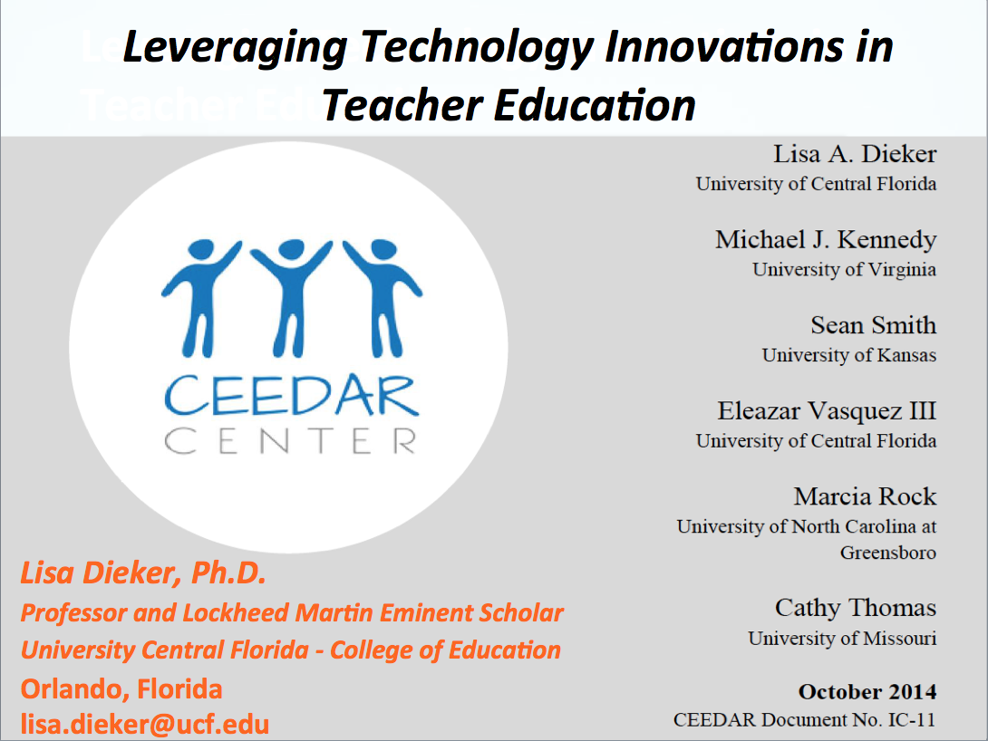 Leveraging Technology Innovations in Teacher Education