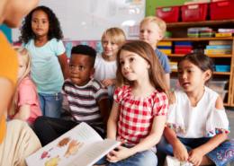 Group of diverse young children